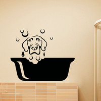 Dog Wall Decal Pets Grooming Salon Decals Vinyl Sticker Dog Puppy Pet Shop Animal Decor Kids Nursery Baby Room Wall Art Interior Design Z806