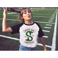 Riverdale T Shirts Women Summer New Harajuku kawaii Short T-shirt Girl Riverdale Southside Serpents lady For Female ulzzang
