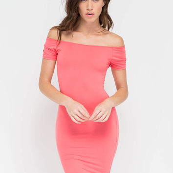 Bare In Mind Off-The-Shoulder Minidress