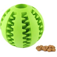 CAVN Soft Rubber Toy IQ Treat Ball for Dogs and Cats (Dental Treat and Bite Resistant) Durable Non-Toxic Strong Tooth Cleaning Dog Feed Ball for Pet IQ Training/ Chewing/Playing, Dog Chew Toys | furryface