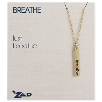 Breathe Word Bar Necklace