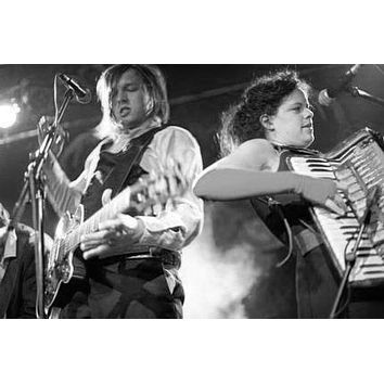 "Arcade Fire Poster Black and White Poster 24""x36"""