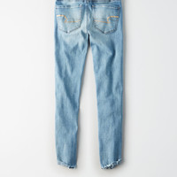 AE Ne(X)t Level High-Waisted Jegging Crop, Iced Light Indigo