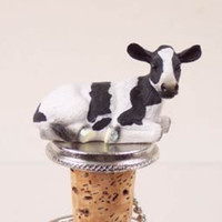 Holstein Cow Bottle Stopper