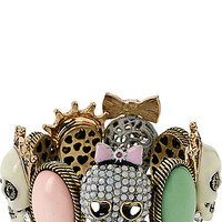 PET SHOP VINTAGE MULTI SKULL STRETCH BRACELET