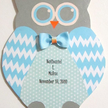 Personalized Wooden Owl, Baby Room Decor, Owl, Custom Name, Custom Sign, Owl wood sign