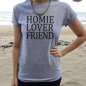 Homie Lover Friend t-shirt top R kelly old school fashion