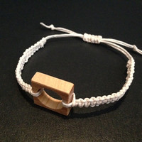 Recycled Skateboard Adjustable Hemp Cord Bracelet