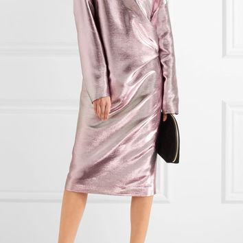 Jil Sander - Metallic cotton-blend dress