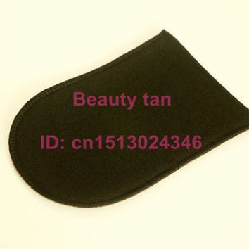 1pc/lot Self Tan Mitt, Tan Applicator of Tanning Lotion, Spray Tan for Bronzer , Soft Velvet can be reusable