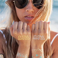 Alpha Gamma Delta Accents Tattoo Set (4-Pack)