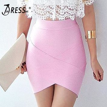 Elastic Bandage Skirts Sexy Slim Pencil Bodycon Skirts