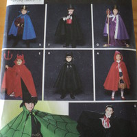 Sewing Pattern Simplicity Costumes Kids Cape Robe and Headpieces 5927