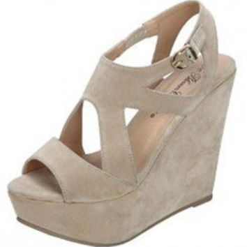 CUT OUT OPEN TOE WEDGES-Wedges-wedge heels,leopard wedges,suede wedges,Sexy wedges,white wedges,black wedges,sexy wedges,Silver Wedge