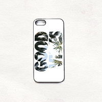 Good vibes case iPhone 5 5s & 4 4s Hard Case Black/White/Transparent Grunge Indie Hipster Tropical Summer Tumblr One direction 5sos