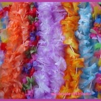 Mega Silk Lei Assortment 50 ct for Tropical Hawaiian Luau Party Favors