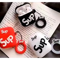 Supreme airpods1 Bluetooth wireless headset set anti-lost lanyard cover