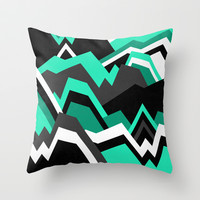 Rock formations / Pattern 1 Throw Pillow by Elisabeth Fredriksson