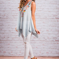 Signature Look Top, Light Blue