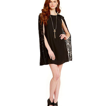 Chelsea Amp Violet Lace Cape Dress From Dillard S The