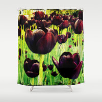Tulips Shower Curtain by Louise Machado