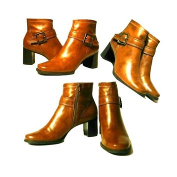 Women's Boots, ankle boots, high heel boots, zipper, buckle, vegan boots, boots, shoes, footwear
