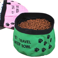Portable Pet Travel Water Bowl Dogs Bowl Pet Supplies(5.5*4 In), Color randomly