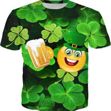 St. Patricks Day Emoticon T-Shirt