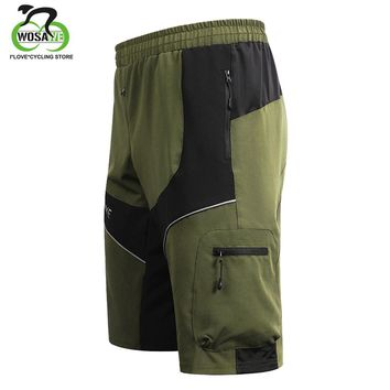 WOSAWE Waterproof MTB bermuda ciclismo Quick Dry Biggy bike short Outdoor Summer Cycling Shorts 3 Colors