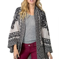 Paisley Cocoon Cardigan