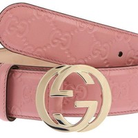 NEW GUCCI LADIES MAUVE PINK GG GUCCISSIMA LEATHER G BUCKLE BELT 95/38
