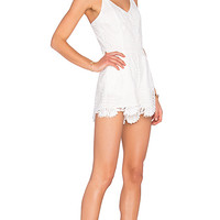 x REVOLVE Songbird Romper in White