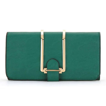 Clutch Bag In Green
