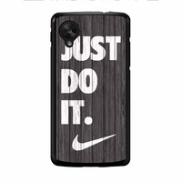 Nike Just Do It Wood Colored Darkwood Wooden Nexus 5 Case