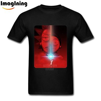 Awesome Cool Rick Morty Custom Man T-shirts  Tees  DIY Your Own T-Shirts DIY Boy 3XL Cotton T Shirts