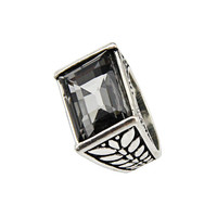 Large Stone Silver Ring