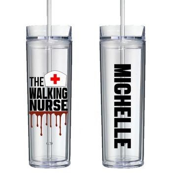 The Walking Nurse Personalized Tumbler - Perfect Gift - Free Shipping