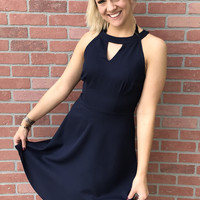 Love Me Now Dress- Navy