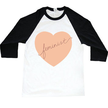 Feminist Heart -- Unisex Long-Sleeve