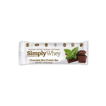 Simply Choices Whey Bars - Chocolate Mint - 40 Grm - Case Of 12