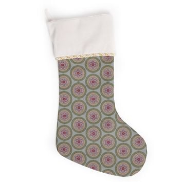 "Rachel Watson ""Lucrezia Borgia Brocade"" Purple Green Christmas Stocking"