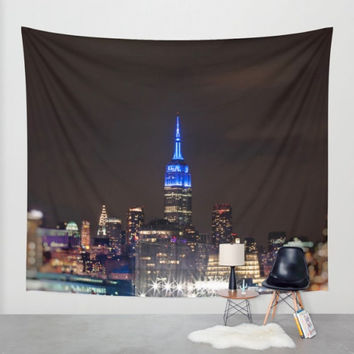 NYC Tapestry, Large Wall Art, Photo Tapestry, Tapestry Wall Hanging, Fabric Art, New York City, NYC, NYC Skyline, urban decor