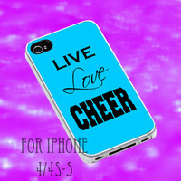 Live Love Cheer iPhone case, iPhone 4/4s/5/5s/5c, iPod 4/5 case, Samsung Galaxy S3/S4 case,