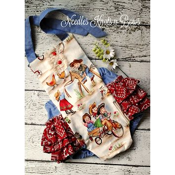 Baby Girls Romper, Girls Western Cowgirls Romper, Western Birthday Romper, Cowgirl Country Romper