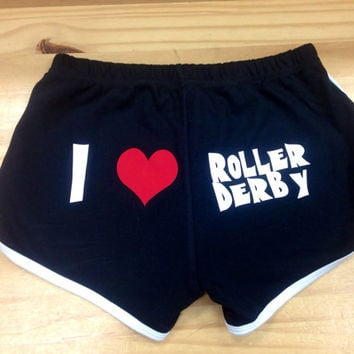 I Love Roller Derby Skate Shorts