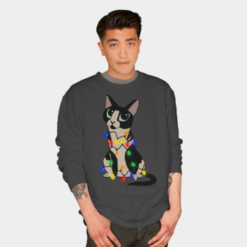 Meowy Christmas Crewneck By MomaArt Design By Humans