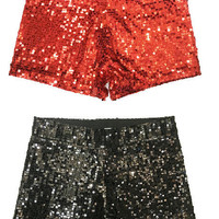 All That Jazz Sequin Shorts - 5 Colors