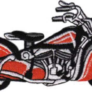 Motorcycle Iron-On Patch Vintage Style