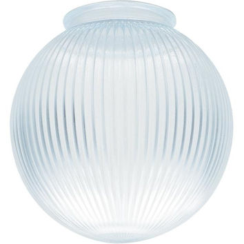 3-1/4-Inch Clear Prismatic Glass Globe, 6-Pack