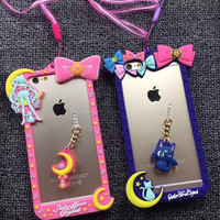Hot Selling Cute Cartoon Sailor Moon bumper Case for iPhone 6 6S/6 6S Plus Cover Coque Capa Free Shipping